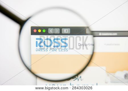 Los Angeles, California, Usa - 14 February 2019: Ross Stores Website Homepage. Ross Stores Logo Visi