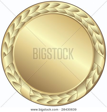 gold medal - This image is a vector illustration and can be scaled to any size without loss of resolution