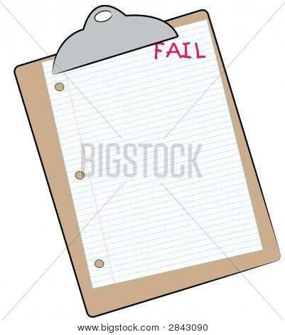 Clip Board W Lined Paper And Fail