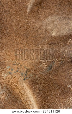 Old Metal Iron Rust Backgroun, Brown Metal Background Texture, Metal Steel Vintage Plate With Some O
