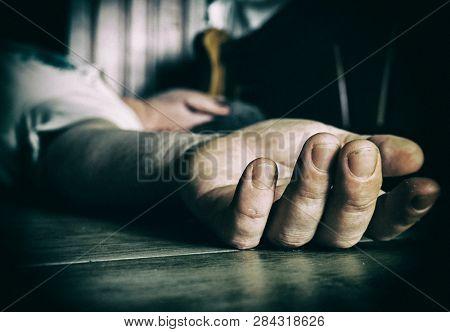 Dead or drunk man on the floor
