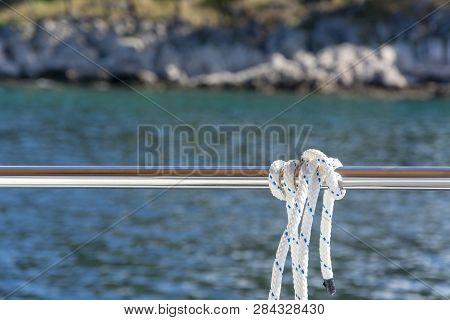 White Rope On Railing