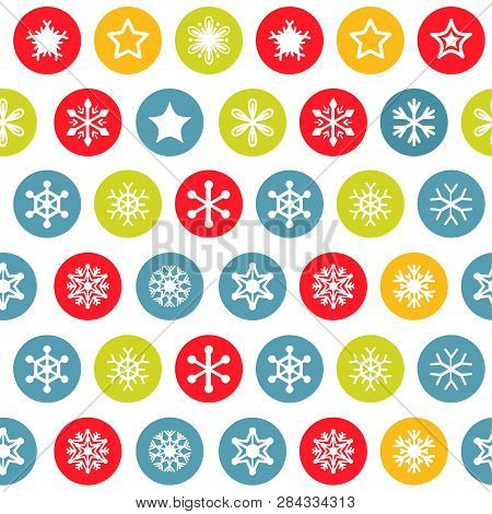 Snow Pattern On White Background. Vector Illustration.