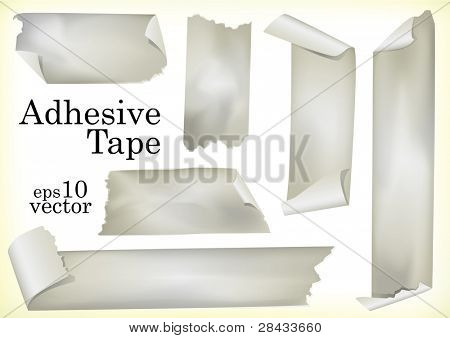 A Set of Vector Illustrations of Adhesive Tapes