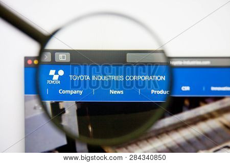 Los Angeles, California, Usa - 14 February 2019: Toyota Industries Website Homepage. Toyota Industri