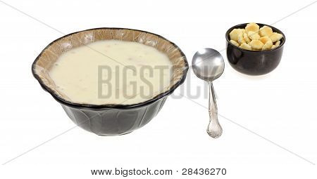 Bowl Canned Clam Chowder