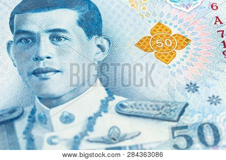 Detail Of A New 50 Thailand Baht Note