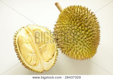 Closeup of fresh durian fruit