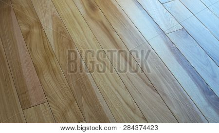 Hickory Wood Natural Floor For Use As Texture Background.
