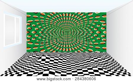 Room Of Illusions. Room With Optical Illusion. Outstanding Art Ideas Inspired By Optical Illusions.
