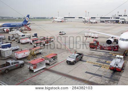 Bangkok Thailand - November2,2017 : Belong And Ground Service In Donmuang Airport ,donmuang Airport