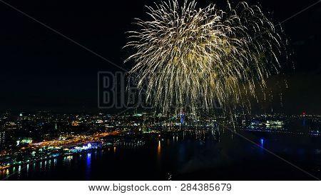 Fireworks Display In The City Of Philadelphia
