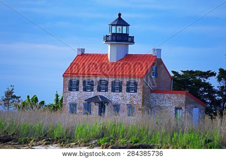 East Point Lighthouse In Heislerville New Jersey