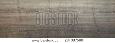 Brown Wooden Texture Background, Dark Oak Of Weathered Distressed Washed Wood With Faded Varnish Pai