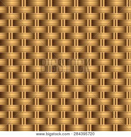 Background Woven, Imitation Rattan. Seamless Pattern, Vector Illustration