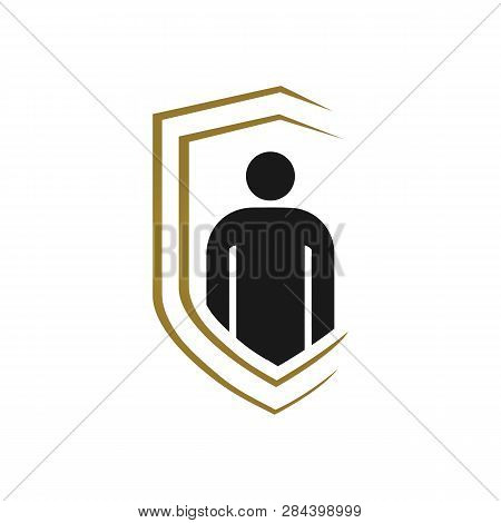 Bodyguard Logo Isolated On White Background.  Bodyguard Illustration Simple Sign.  Bodyguard Icon Tr