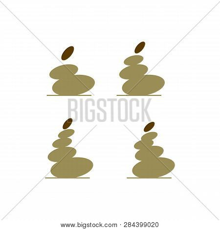 Spa Stone Vector. Zen Stones Vector Icon On White Background. Zen Stones Illustration. Zen Stones Ic