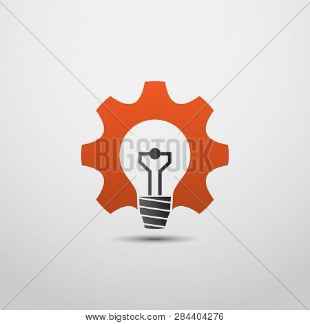 idea gear logo, Light bulb idea icon. brain logo. Light bulb logo design. thinking logo, think logo concept.