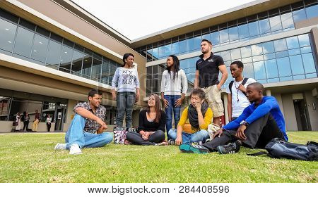 Diverse Students On College Campus