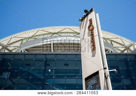 31st December 2018, Adelaide South Australia : Adelaide Oval Sports Ground Stadium Front View With S