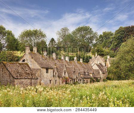 Historic Cottages At Arlington Row, Bibury, Gloucestershire England
