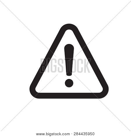 Exclamation Danger Sign . The Attention Icon. Danger Symbol. Alert Icon