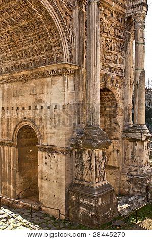 An ancient Roman arch