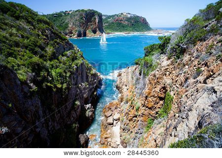 landscape in Knysna, Western Cape province,  South Africa poster