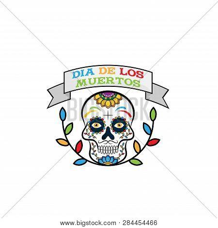 Dia de los muertos. Day of the dead. Dia de los muertos vector. Dia de los muertos illustration. Dia de los muertos poster. Dia de los muertos background. skull sugar vector. calavera skull. Mexican Dia de los muertos carnival party.