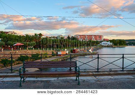 Mirandela, Portugal - July 20, 2014 : Banks Of The River Tua, Mirandela, Portugal