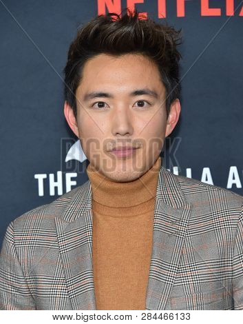 LOS ANGELES - FEB 12:  Justin Min arrives for the Netflix's 'The Umbrella Academy' Premiere - Season 1 on February 12, 2019 in Hollywood, CA