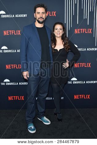 LOS ANGELES - FEB 12:  Jeremy Slater and Melissa Russell arrives for the Netflix's 'The Umbrella Academy' Premiere - Season 1 on February 12, 2019 in Hollywood, CA