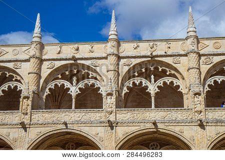 The Exterior Of Hieronymites Monastery, Belem, Lisbon, Portugal