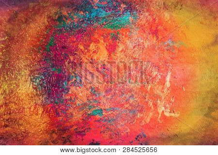 colorful pattern background made on paper with tempera studio shot
