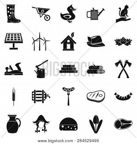 Stockroom Icons Set. Simple Set Of 25 Stockroom Icons For Web Isolated On White Background