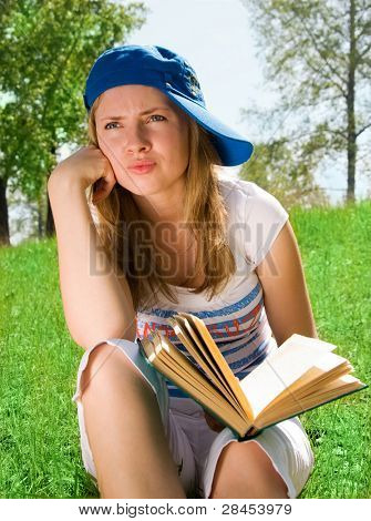 Girl unwilling to read