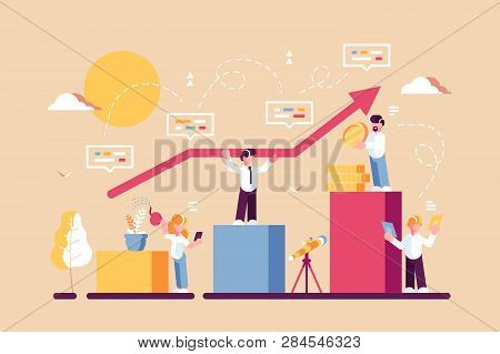 Strategy Of Long Term Planning Vector Illustration