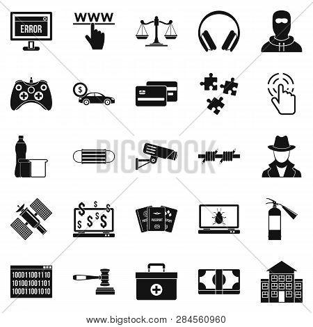 Software Developer Icons Set. Simple Set Of 25 Software Developer Icons For Web Isolated On White Ba