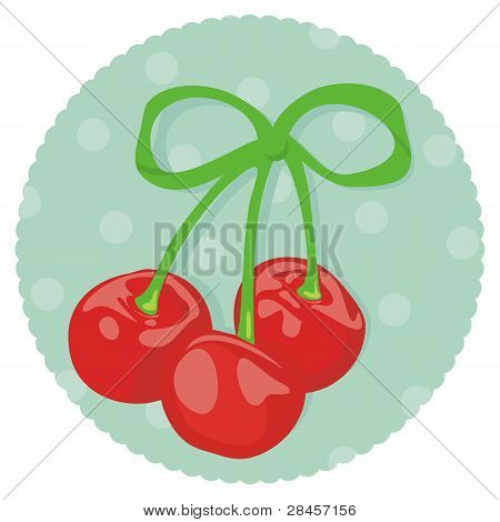 Three cherries wrapped as gift