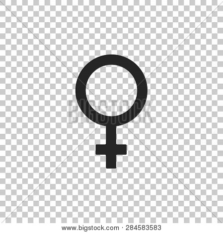Female Gender Symbol Icon Isolated On Transparent Background. Venus Symbol. The Symbol For A Female