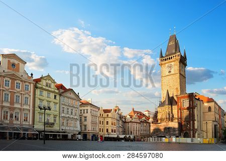 View Of Town Hall On Staromestska Square In Prague