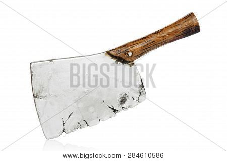 Toy Meat Cleaver Isolated On White Background