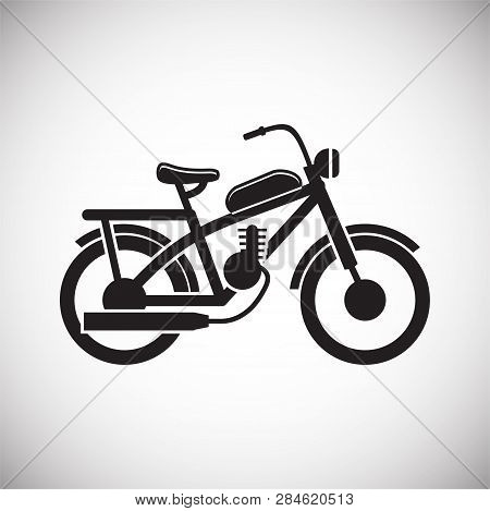 Motorcycle Cross Icon On White Background For Graphic And Web Design, Modern Simple Vector Sign. Int