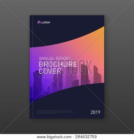 Business Brochure Cover Design Layout. Good For Real Estate Catalog, Annual Report, Magazine Cover,