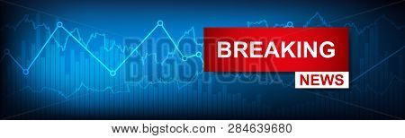 Breaking News World Map Background. Business And Economics In The World Of Politics News Background.