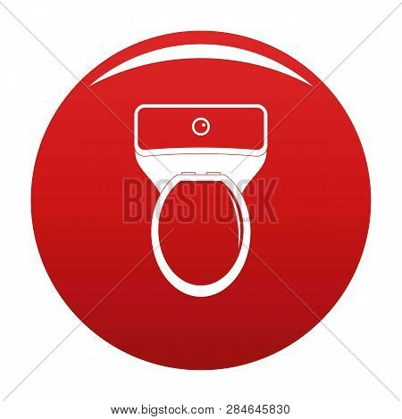 Lavatory Icon. Simple Illustration Of Lavatory Vector Icon For Any Design Red