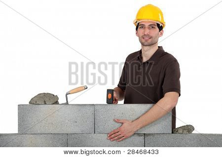 Construction worker at work