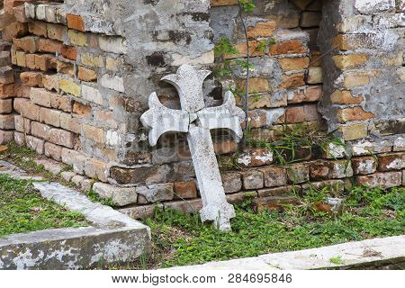 Crosses In The Old Cemetary, Brownsville, Texas