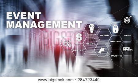 Event Management Concept. Event Management Flowchart. Event Management Related Items. Mixed Media Bu
