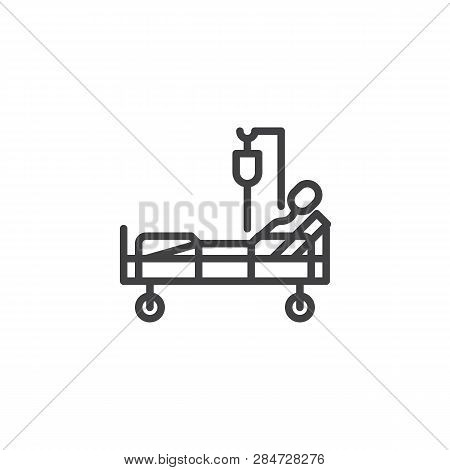 Hospital Bed Patient Vector & Photo (Free Trial) | Bigstock